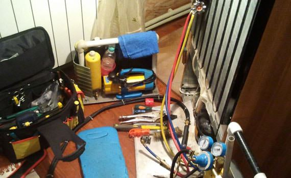 Ремонт холодильников - заправка холодильника фреоном